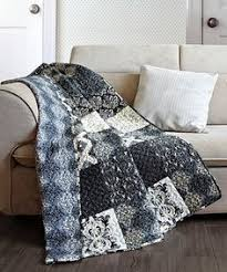 Boho Chic Moroccan Paisley Pattern Navy Blue Cotton Quilt Throw ... & Arabesque Quilted Throw #zulilyfinds Adamdwight.com