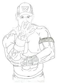Wwe John Cena Coloring Pages John Coloring Pages Printable John