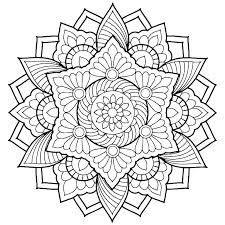 Simple Mandala Coloring Pages Easy Pdf Truyendichinfo