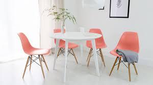 pink eames dining set