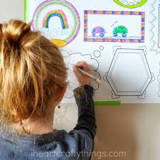erasable frames wall decal a fun way to let the kids color on the walls