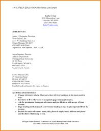 98 Resume Reference Page Good Resumer Example