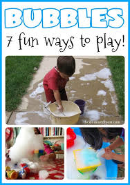 outdoor activities for preschoolers. Bubbles Make A Great Outdoor Play Activity! Here Are Seven Fun Ways To Create And Activities For Preschoolers T