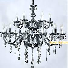 chandeliers black glass chandelier salon bar restaurant professional lighting head pendant crystal chandeliers large shade