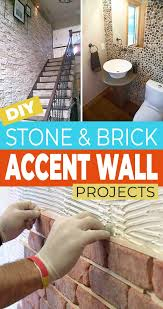 faux brick and diy stone accent walls