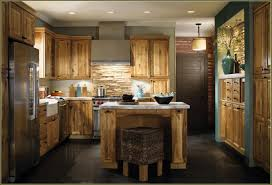 Hickory Kitchen Similiar Rustic Hickory Cabinets With Granite Countertops Keywords