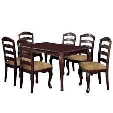 venetian worldwide townsville i 7 piece dark walnut dining set