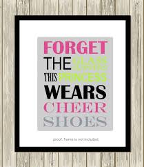 Cheerleading Quotes Adorable Cheerleading Wall Art Cheerleader Quotes Cheer Room Decor Etsy