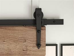 diyhd 5ft 10ft arrow wheel black rustic sliding barn door hardware in doors from home improvement on aliexpress alibaba group