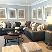 gray walls brown furniture living room grey and brown room co grey curtains brown sofa