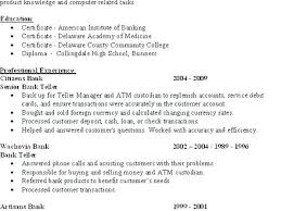 Resume For A Bank Teller Bank Teller Resume Examples Sample Resume For Bank Teller Bank
