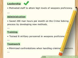 military experience on resume. 4 Ways to Add Military Experience to a Resume wikiHow