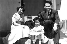 amy tan academy of achievement  1956 the tan family in front of their rented apartment in oakland from