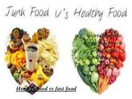 junk food vs healthy food. Unique Food Healthy Food Vs Fast Andrs Alvarado Jarely Arosemena Jorge Castillo  Oliver Gonzlez Angie Acosta  To Junk Food Vs O