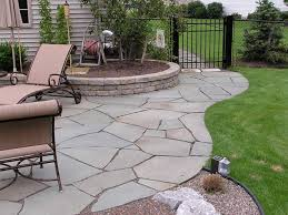 patio stones home depot. Sweet Home Depot Patio Designs Mixed With Cream Lounge Chairs In Black Iron Framework On Stone Footpath And Round Raised Garden Plus Fence Stones