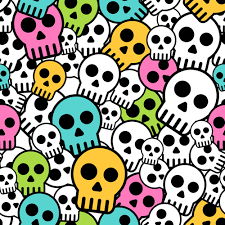Skull Pattern Beauteous Simple Skull Vector Seamless Pattern Free Download