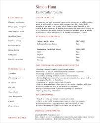 Call Center Resume Bravebtr