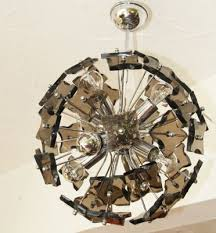 vintage italian smoked glass sputnik chandelier from fontana arte 1