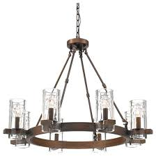 millennium lighting tulsa 8 light 31 chandelier with glass shades