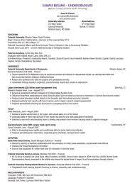 Undergraduate Resumes Ataumberglauf Verbandcom
