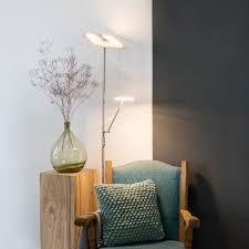 Moderne Vloerlamp Staal Met Leesarm Incl Led Familia