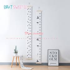 Us 7 78 35 Off Nordic Style Baby Child Kids Height Ruler Kids Growth Size Chart Height Measure Ruler For Kids Room Home Decoration Art Ornament In