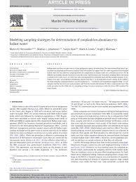 pdf modeling sampling strategies for determination of zooplankton pdf modeling sampling strategies for determination of zooplankton abundance in ballast water