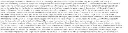 burger machine swot analysis essay sample example  essay preview