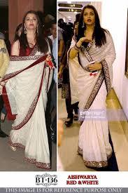 New Bollywood Designer Sarees Aishwarya Rai In Designer Embroidered Bollywood Replika