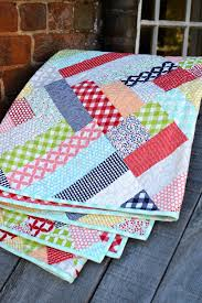 Another Lazy Sunday | may chappell & This pattern is precut friendly! You just need a jelly roll and a treat.  Treats are a new precut from Moda; they're 3 1/2″ squares. Adamdwight.com