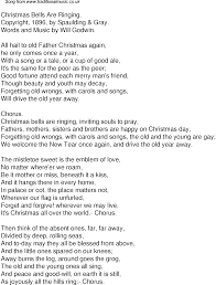 Old Time Song Lyrics for 53 Christmas Bells Are Ringing