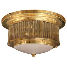 vintage italian brass ceiling fixture by venini signed 2 available
