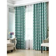 cheap window treatments. Wholesale Geometry Pattern Shading Window Blackout Curtain - Turquoise W41 Inch*l83 Inch Hotel French Cheap Treatments D