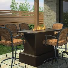 Best Counter Bar Height Gas Fire Pit Table High Ideas Wooden Chairs