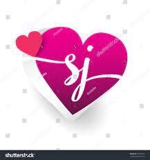 Initial Logo Letter Sj Heart Shape ...