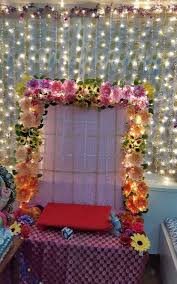 ganesh pooja mandap decoration with flowers pooja pinterest