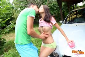 Fingering Ass Outdoors and Fucking the Car Wash Girl