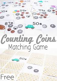 Free Printable Money Matching Game: Counting Coins - Life Over Cs