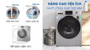 TRẢ GÓP 0% - Máy giặt Aqua Inverter 9 kg AQD-D900F(S) Model 2020 -Tự