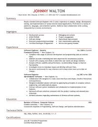 Software Developer Cv Template Free Download Resume Microsoft Word