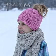 Ponytail Beanie Crochet Pattern Mesmerizing The Best Ponytail Hat Patterns Aka Messy Bun Beanies For Little