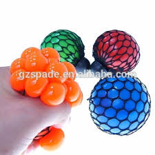 ball toys. bead stress ball rubber squeeze grape toy mesh squishy toys