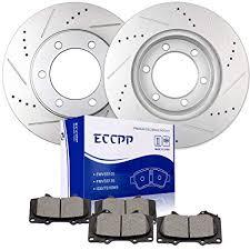Brake Rotors Brakes Pads Kits Eccpp 2pcs Front Discs Brake Rotors And 4pcs Ceramic Disc Brake Pads Set Fit For 2003 2007 Toyota Sequoia 2000 2006