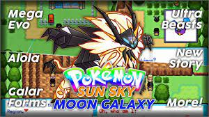 Pokémon Sun Sky and Moon Galaxy - GBA ROM Hack with Mega Evolution, Galar  Forms, New Story and More! - YouTube