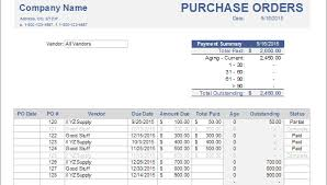 purchase order spreadsheet advanced purchase order tracking with accounting software