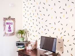 DIY oversized confetti mural (using washi tape!)