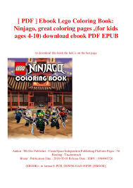 Pdf Ebook Lego Coloring Book Ninjago Great Coloring Pages For