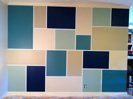 feature wall step 1 tape out design step 2 paint step 3 design of wall paint