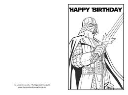Small Picture Star Wars Happy Birthday Card Coloring Pages Star wars