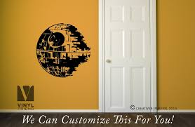death star wall decor vinyl decal sticker star wars theme rooms and sci fi geeks 2494 on wall art decoration vinyl decal sticker with death star wall decor vinyl decal sticker star wars theme rooms